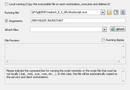 How to deploy the execution of an executable