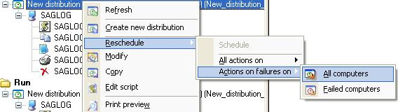 How to redeploy a distribution on a new selection of target