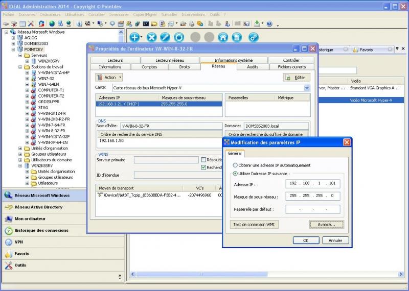Modifier les paramètres IP de vos postes clients