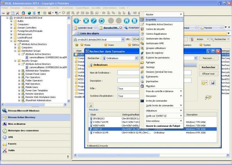 Rechercher et gérer rapidement vos objets Active Directory