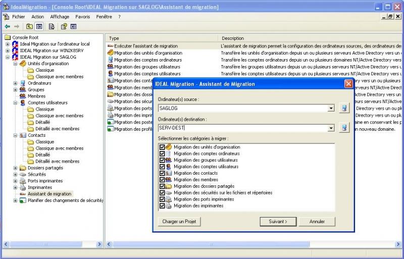 Utilisez l'Assistant de Migration pour une migration simplifiée