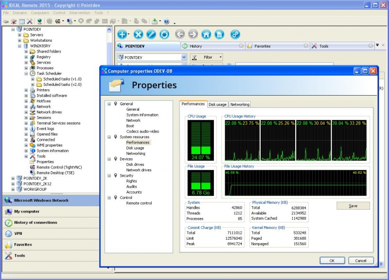 Manage Windows Performances Remotely