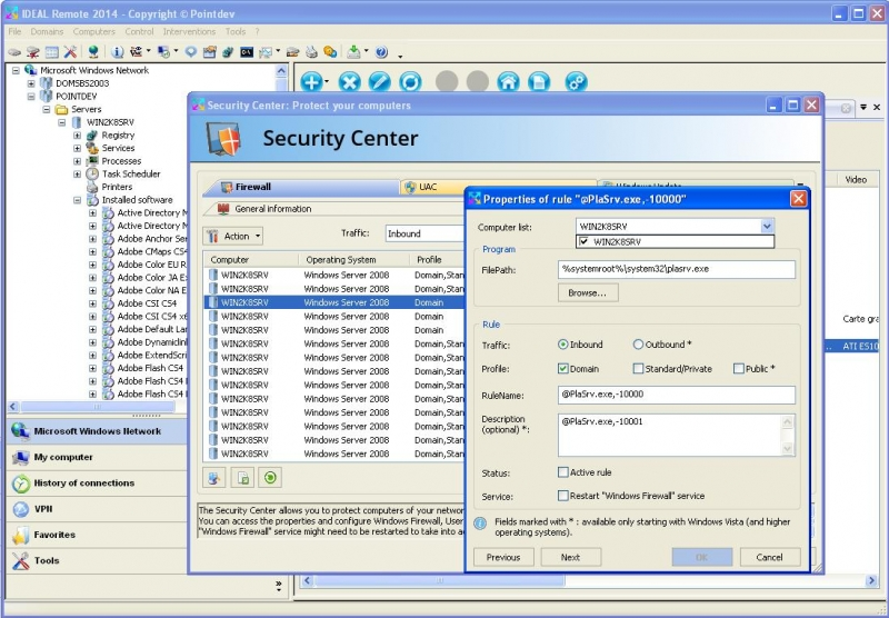 Manage Rules, UAC and Firewall Remotely