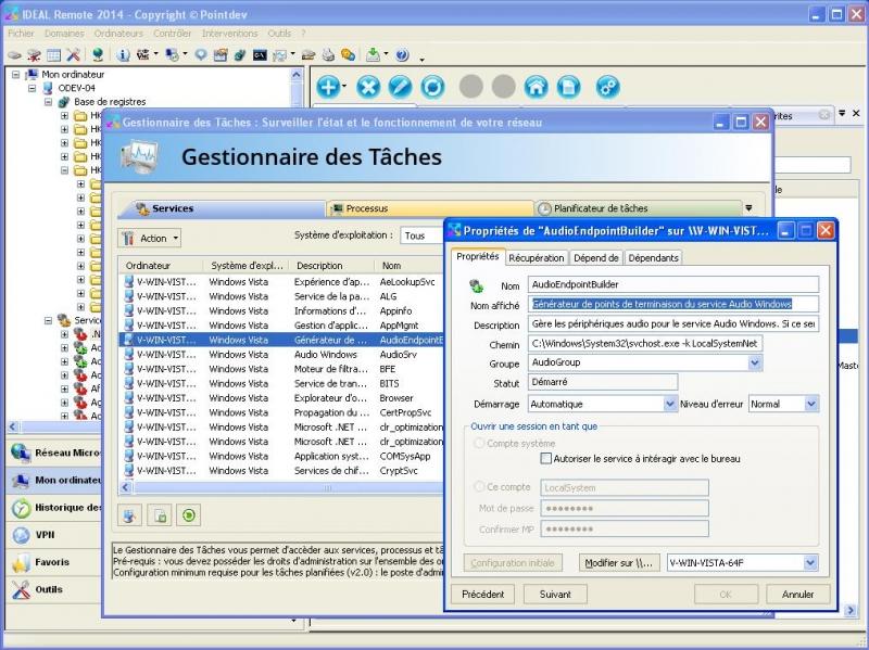 Gérez les services et périphériques Windows à distance