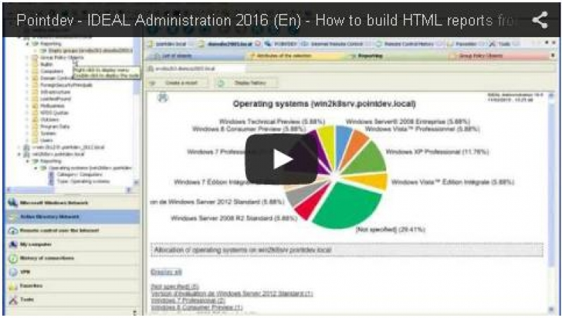 Automatically build HTML reports from Active Directory (2:19)