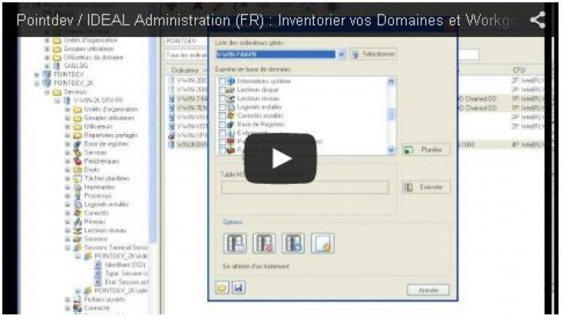 Inventoriez vos domaines Active Directory et Workgroups (0:44)