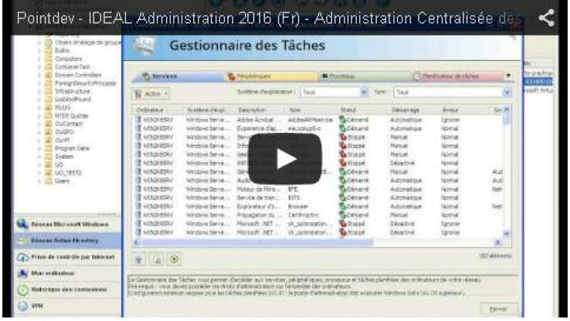 Présentation IDEAL Administration (10:40)